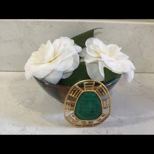 Vintage Hattie Carnegie Pin Pendant Faux Jade